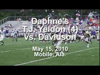 Daphne's T.J. Yeldon vs. Davidson