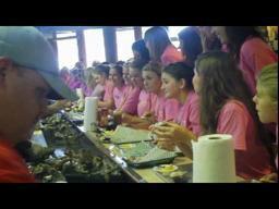 The annual AJM oyster eating contest
