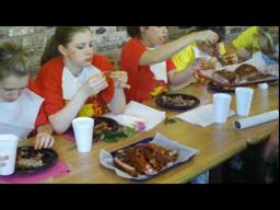 AJM rib eating contest