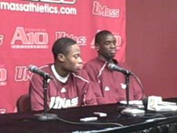 Ricky Harris after UMass' win over Hofstra