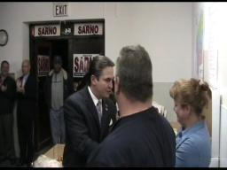 Springfield Mayor Domenic Sarno celebrates victory