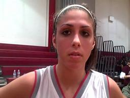 East Longmeadow senior Krista Ferrentino talks about her team's win over Central