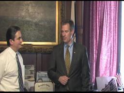 Senator elect Scott Brown visits Springfield Mayor