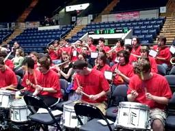 Elite Eight battle of the bands: Minnechaug peps it up for St. Cloud State