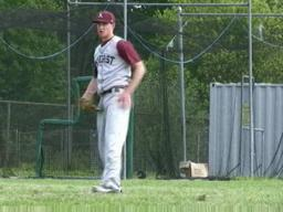 Amherst left-handed pitcher Kevin Ziomek shares his pregame routine