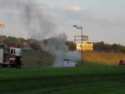 Car fire video near Basketball Hall of Fame in Springfield