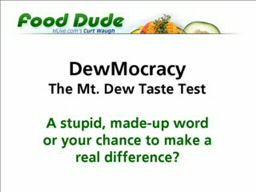 Mt. Dew Taste Test