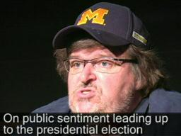 Michael Moore talks politics at Slacker Uprising world premiere