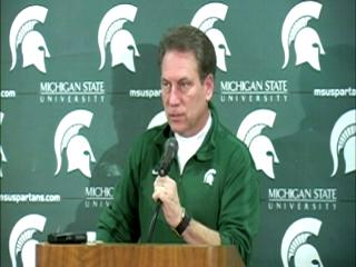 Michigan State head coach Tom Izzo says the Spartans must limit