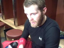 Red Wings forward Dan Cleary discusses tough road trip to Chicago