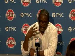 Joe Dumars discusses the Pistons' need to get back to playing with grit and toughness