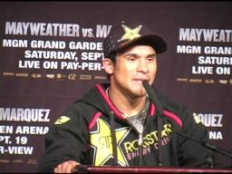 Marquez dedicates Mayweather fight to Mexican fans