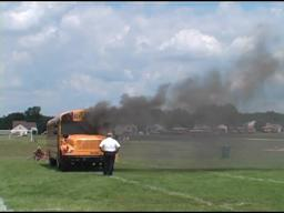 Mock Bus Fire