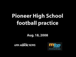 Pioneer High School football practice