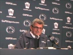 Penn State coach Joe Paterno on where the team must improve
