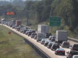 Heavy traffic on I-81