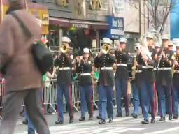 Marine Corp. Band at St. Patrick's Parade