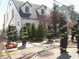 2-alarm fire in Fort Wadsworth