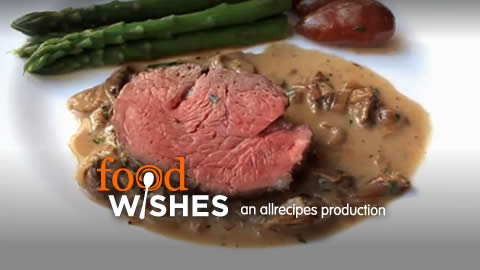 What is a recipe that includes oven-baked beef tenderloin?