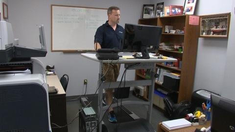 Treadmill desks: Workout at work