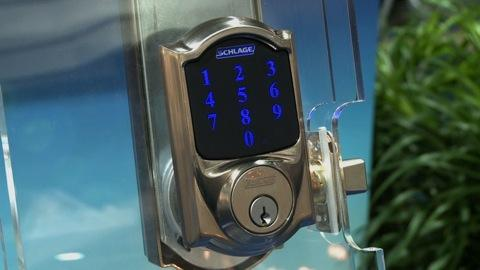 Schlage touch-screen door lock