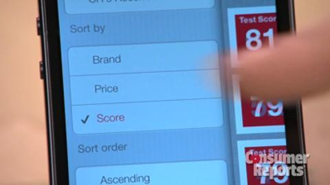 Quick how-to for Consumer Reports mobile app Ratings