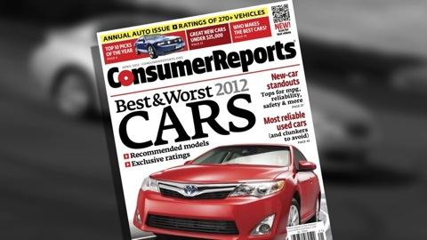 Consumer Reports' Top Pick 2012 cars