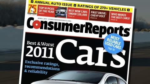 Consumer Reports' 2011 Top Pick cars