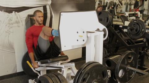 Colin Kaepernick's Leg Strength Workout