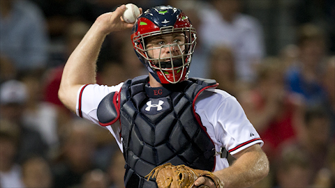 How Evan Gattis Stays Safe Behind the Plate