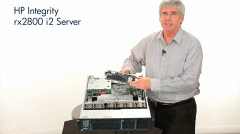The new HP Integrity rx2800 server