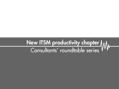 New ITSM productivity chapter