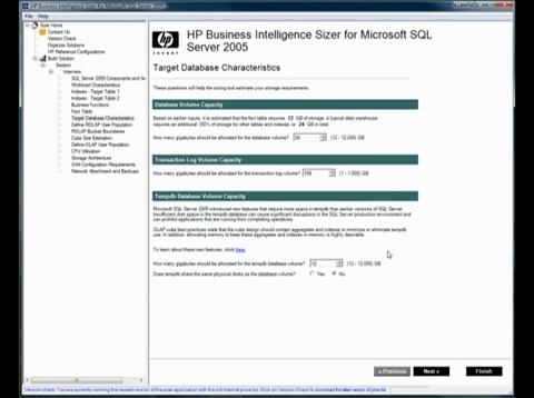 HP BI Sizer tool: Overview