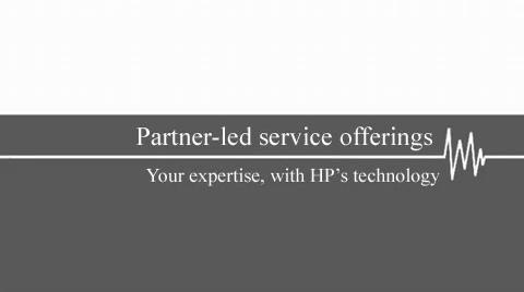 Partner-led service offerings