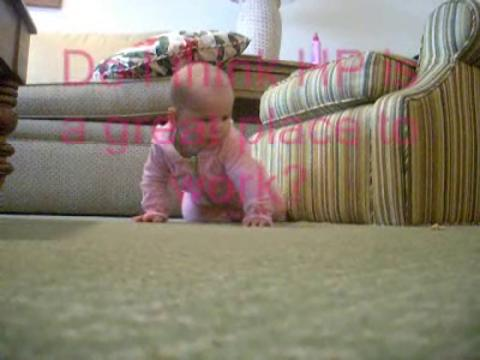 Baby Learns to Crawl on HP Video