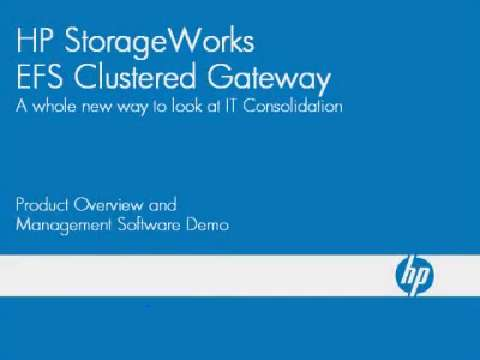 HP StorageWork EFS Clustered Gateway