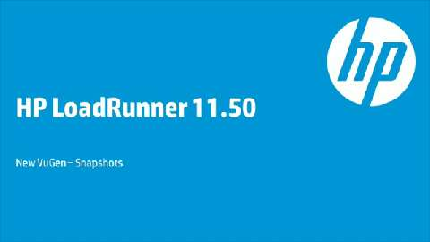 HP LoadRunner 11.50 - Tutorial: VUGen: Snapshot