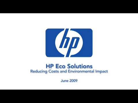 HP Eco Solutions Discussion