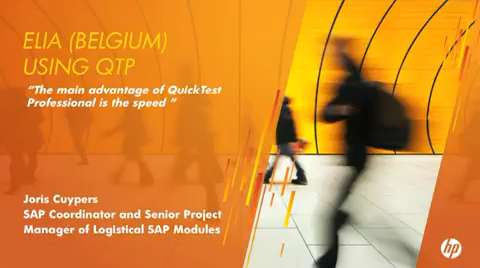 ELIA (Belgium) using QTP with SAP