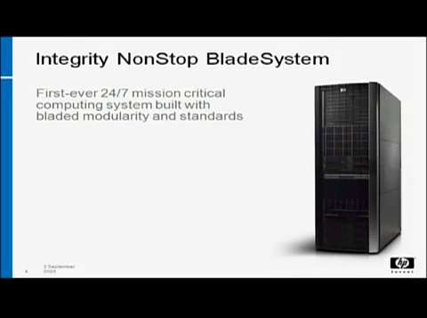 HP BladeSystem with NonStop