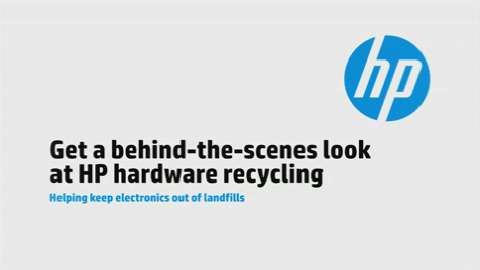 Get a behind-the-scenes look at HP hardware recycling