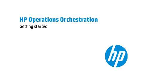 Getting Started with HP Operations Orchestration