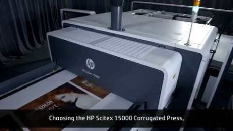 HP Scitex 15000 Corrugated Press