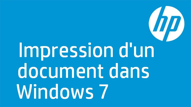 Impression d'un document dans Windows 7