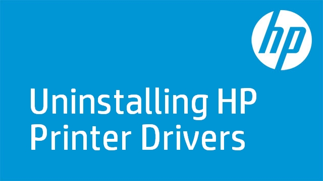 Uninstalling HP Printer Drivers