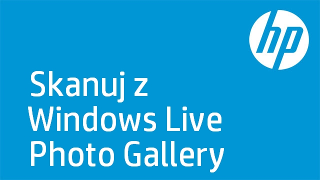 Skanuj z Windows Live Photo Gallery