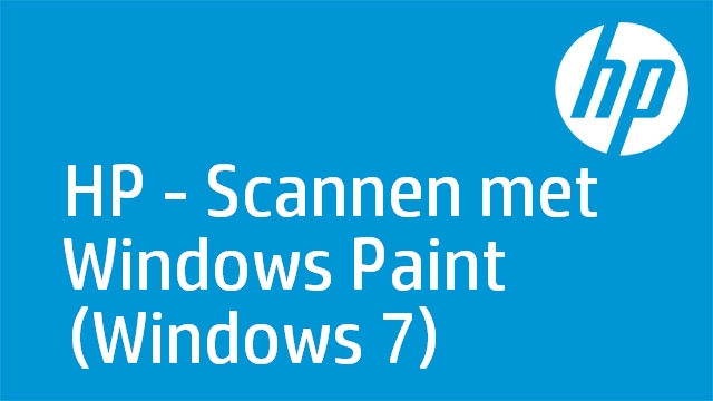 HP - Scannen met Windows Paint (Windows 7)