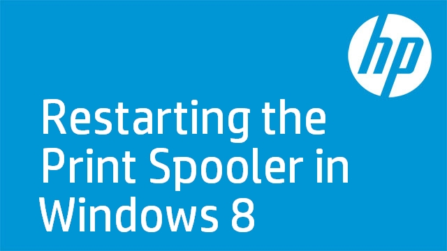 Restarting the Print Spooler in Windows 8
