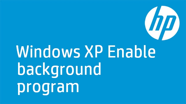 Windows XP Enable background program