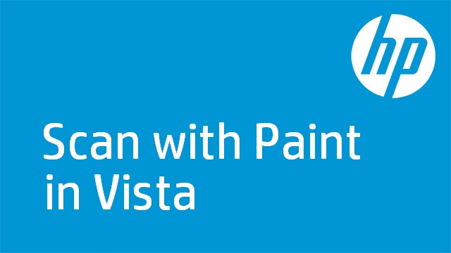 Scan with Paint in Vista